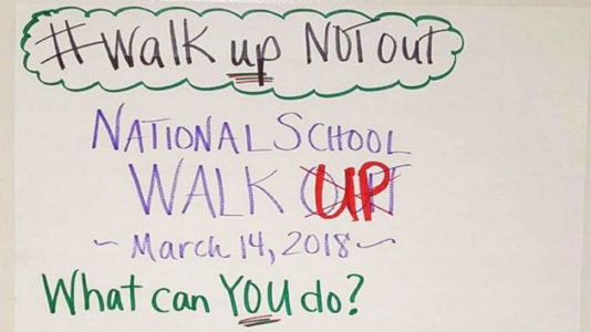 Middle school teacher encourages students to 'walk up' to others, not just walk out