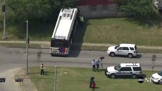 Bus bus driver stabbed by passenger