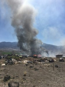 Crews battle fire in Sevier County near Elsinore
