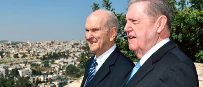 Mormon officials leave Jerusalem due to strike on Syria