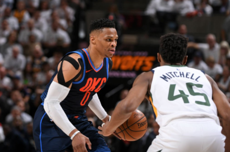 Thunder G Westbrook gets fine, tech for confronting Gobert