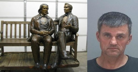 Utah man gets prison time for theft of Mormon statue