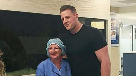Houston Texans' star JJ Watt visits Santa Fe shooting survivors, hospital staff