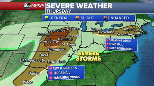 Severe weather outbreak winding down after dozens of tornado reports
