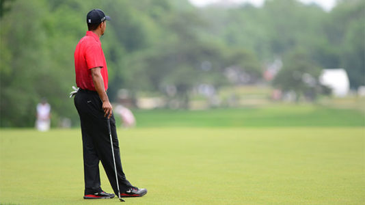 Tiger Woods shoots 65 at TPC Sawgrass, in the hunt at the Players