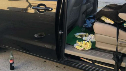 Mother distracts armed robber with a taco as she went to ask for help