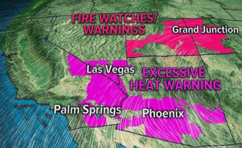 Wildfires explode in Southwest; severe weather possible in Northeast