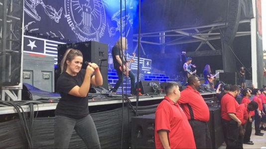 Sign language interpreter slays at heavy metal concert