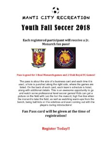 Manti City Soccer signups