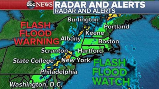 More rain expected for Northeast US throughout Saturday
