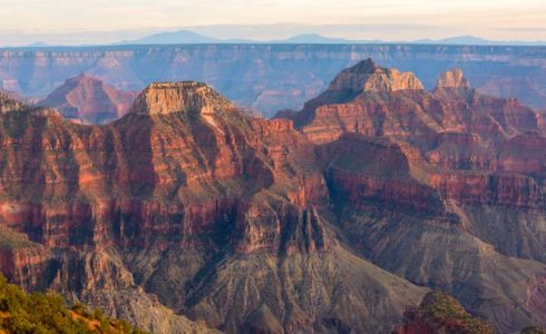 Grand Canyon closes North Rim road, trails due to wildfire