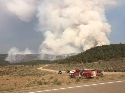 New wildfire burning in Sanpete County forces evacuations