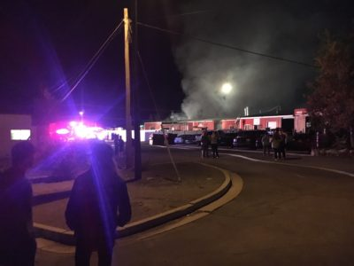 Fire in Ephraim auto body shop burns for hours Wednesday night
