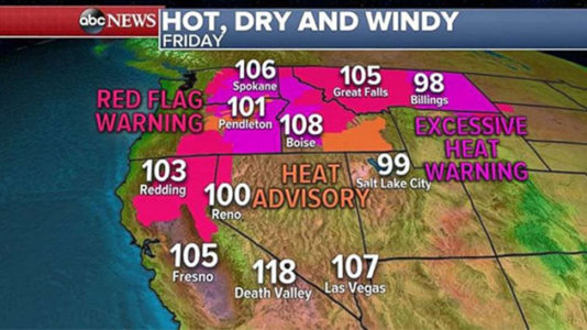 Record heat scorches the West as Northeast prepares to get soaked