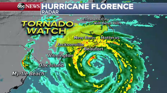Florence makes landfall; police chief predicts 'biblical proportion flood'