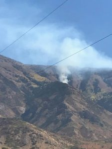 New fire burning near Mona