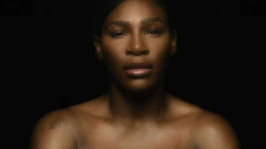 Serena Williams bares all and sings for breast cancer awareness month