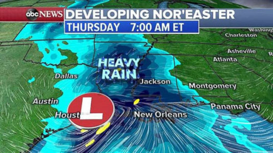 First nor'easter of the season on the way for the East Coast