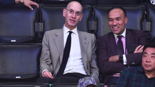 NBA commissioner Adam Silver supports players' tribute to mass shooting victims