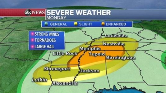 Severe weather heading east as Election Day approaches