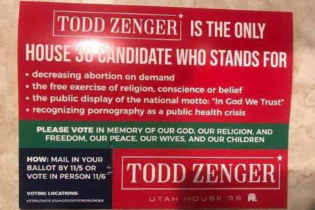 Utah governor defends Democrat against religious freedom ad