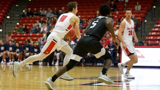 Dixie State Men's Basketball Hosts Metro State and Chadron State This Weekend