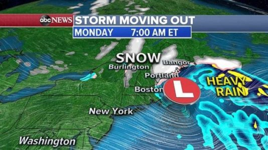 More Northeast snow as West Coast storms form