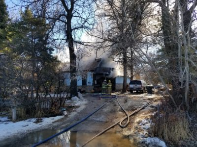 Fire burns house in Manti