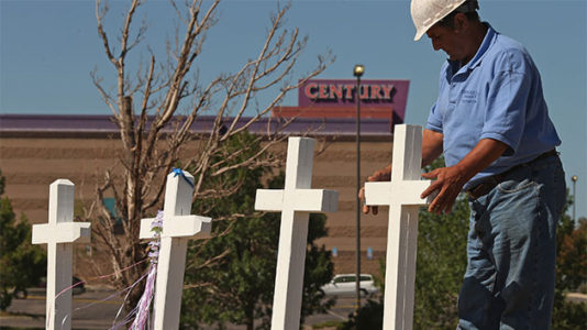 Aurora attack hits hometown of man who builds crosses for shooting victims