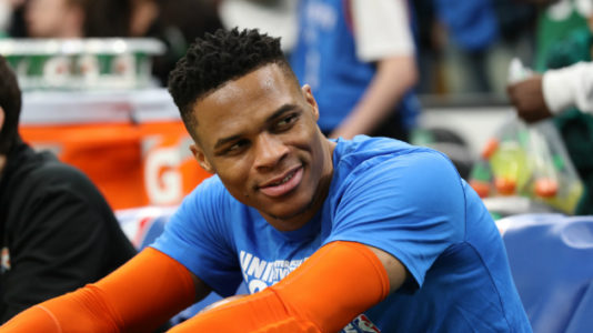 Thunder's Russell Westbrook breaks record with 10th straight triple-double