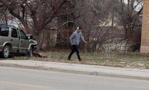 Ephraim Police seeking person of interest after fleeing car vs. tree crash